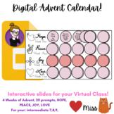 ADVENT Calendar - REMOTE: VIRTUAL CLASSROOM - Paperless -