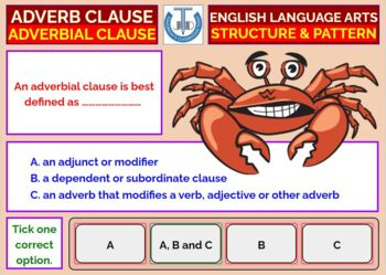 ADVERB CLAUSE WORKSHEETS WITH ANSWERS