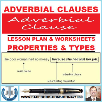 ADVERBIAL CLAUSES: LESSON AND RESOURCES