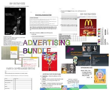 ADVERTISING BUNDLE LESSON PLANS ACTIVITIES