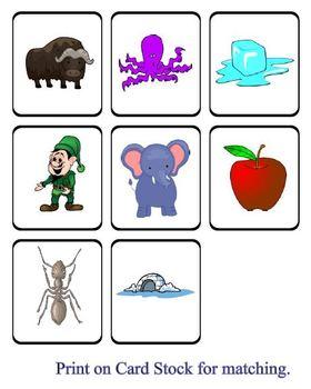 AEIO Beginning Letter File Folder Game - Reading Center Idea for PreK