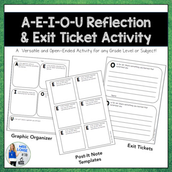 AEIOU Reflection/Exit Ticket Activity