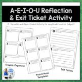AEIOU Reflection/Exit Ticket Activity