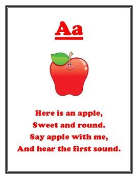 AEIOU - Sound Rhymes Booklet