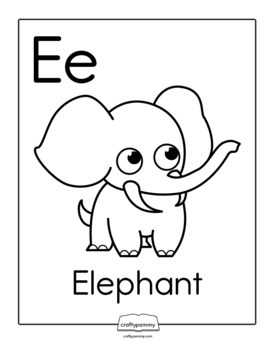 AEIOU Vowels Coloring Ebook Animal Edition by CraftyPammy