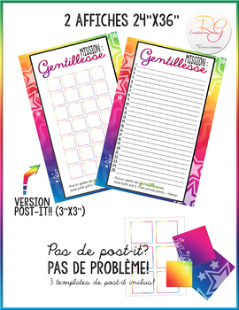 AFFICHE - Mission gentillesse! FRENCH - RANDOM ACT OF KINDNESS 24x36