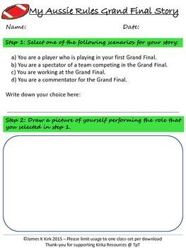 Aussie Rules - Creative Writing