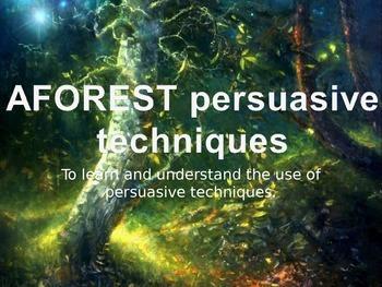 AFOREST Persuasive Techniques
