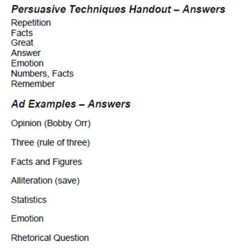 AFOREST Persuasive Techniques Lesson Plan