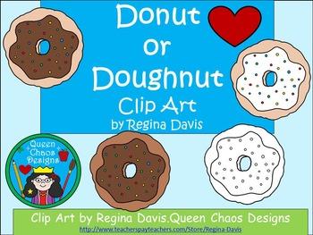 A+ Clip Art: Donut or Doughnut