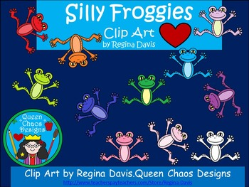 A+ Clip Art: Silly Froggies