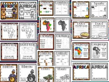AFRICA Continent Study: Paper Bag Book & Close Read Passages #memoriesdeal