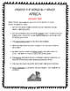 AFRICA Guided Reading - TN Around the World In 3rd Grade