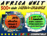 AFRICA Mega Bundle - 20 engaging lessons/activities AND 13 pages of ISN handouts
