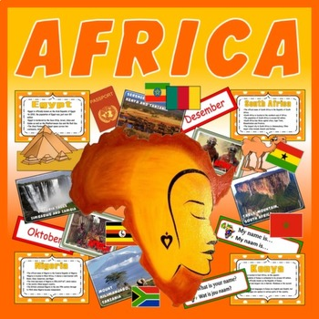 AFRICA -TEACHING RESOURCES CULTURE DIVERSITY LANGUAGE GEOG