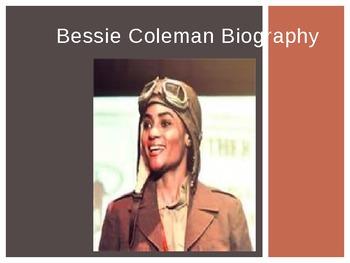 AFRICAN AMERICAN BESSIE COLEMAN BIOGRAPHY PRESENTATION