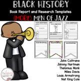 AFRICAN AMERICAN BLACK HISTORY BOOK REPORT RESEARCH TEMPLATES set 10 MEN OF JAZZ