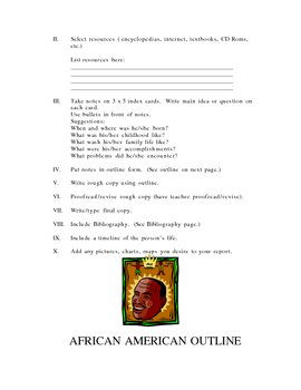 AFRICAN AMERICAN HISTORY RESEARCH REPORT