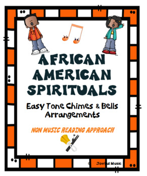 AFRICAN AMERICAN SPIRITUALS Easy Tone Chimes & Bells Arrangements  BUNDLE
