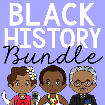 AFRICAN AMERICANS Biography Coloring Pages and Research Projects BUNDLE