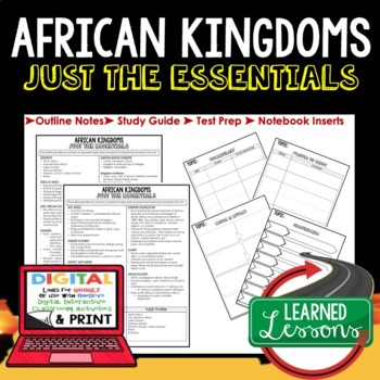 AFRICAN KINGDOMS Outline Notes JUST THE ESSENTIALS Unit Review, Outline