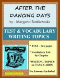 AFTER THE DANCING DAYS by Margaret Rostkowski, Test and Activities