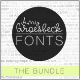 Amy Groesbeck Fonts: The GROWING Bundle