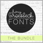 Amy Groesbeck Fonts: The GROWING Bundle