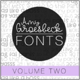 Amy Groesbeck Fonts: Volume Two