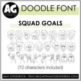 Amy Groesbeck Fonts: AG Squad Goals