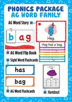 'AG WORD FAMILY' Phonics Lesson Package