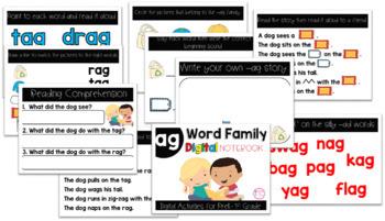AG Word Family Digital Notebook