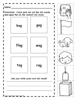 AG Word Family Fun Sheets