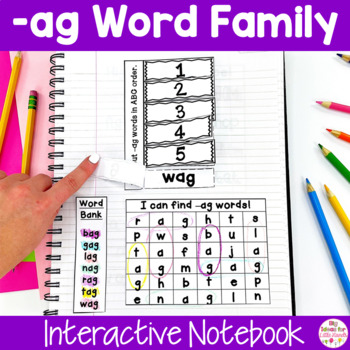 AG Word Family Interactive Notebook