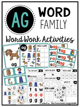 AG Word Family Word Work Activities