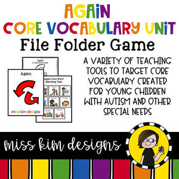 AGAIN Core Vocabulary Bundle for Special Education Teachers