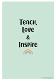 AGENDA RAINBOW FOR TEACHERS