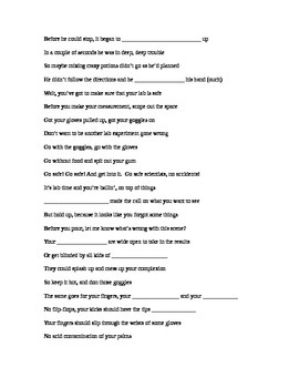 AGHS LAb safety rap fill in the blank
