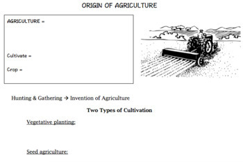 AGRICULTURE Handouts! 48 pages!