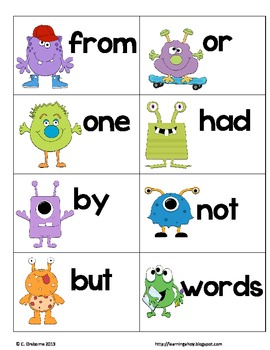 AHHH! ~ A sight word recognition game using the first 200 Fry words