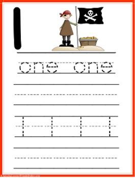 AHOY MATEY Counting Mats, Tracing and Writing Sheets