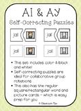 Long Vowel Teams: AI & AY Self-Correcting Puzzles