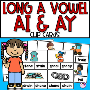 AI & AY Words Clip Cards