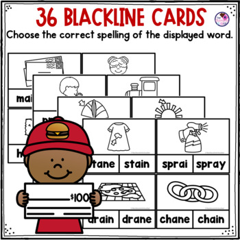 AI & AY Words Clip Cards