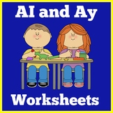 Ai and Ay Worksheets | Ai and Ay Activities