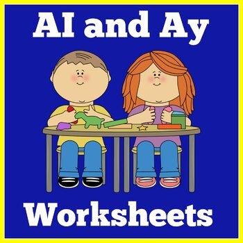 Ai and Ay Worksheets | Ai and Ay Activities