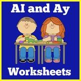 Ai and Ay Worksheets   Kindergarten 1st Grade   Activities