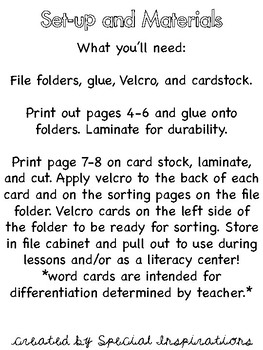 AI and AY File Folder Sort (Orton-Gillingham)