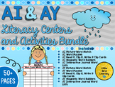 AI and AY Literacy Centers and Activities Bundle