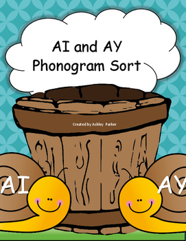 AI and AY Phonogram Sorting Activity